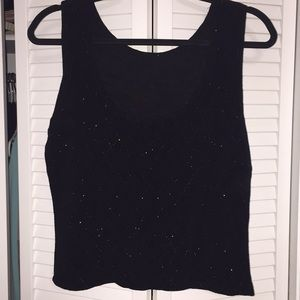 Black and sparkle tank top